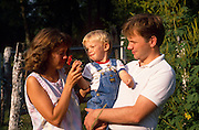 Kaare Sunnarvik, his wife, Ann Englund, and their son, Morten.©1988 Edward McCain. All rights reserved. McCain Photography, McCain Creative, Inc.