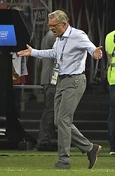 KAZAN, June 24, 2018  Poland's head coach Adam Nawalka reacts during the 2018 FIFA World Cup Group H match between Poland and Colombia in Kazan, Russia, June 24, 2018. Colombia won 3-0. (Credit Image: © Lui Siu Wai/Xinhua via ZUMA Wire)