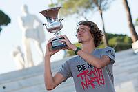 Alexander Zverev poses with the trophy <br /> Roma 21-05-2017 Foro Italico <br /> Tennis Internazionali BNL d'Italia <br /> Photo Andrea Staccioli/Insidefoto