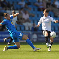 TELFORD COPYRIGHT MIKE SHERIDAN James McQuilkin of Telford during the National League North fixture between AFC Telford United and Leamington AFC at the New Bucks Head on Monday, August 26, 2019<br /> <br /> Picture credit: Mike Sheridan<br /> <br /> MS201920-005