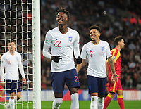 Football - 2019 / 2020 UEFA European Championships Qualifier - Group A: England vs. Montenegro<br /> <br /> Tammy Abraham of England celebrates goal no 6 (own goal), at Wembley Stadium.<br /> <br /> This game is England men's 1,000 international match.<br /> <br /> COLORSPORT/ANDREW COWIE