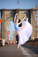 Dance As Art  New York City Photography Brooklyn Bridge Series with dancer, Erin Aslami