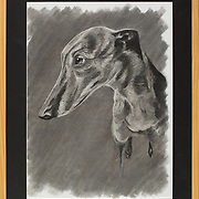 "Title: Beth Gelert or the Grave of a Greyhound<br /> Artist: Katherine Talley<br /> Date: 2014<br /> Medium: Charcoal<br /> Dimensions: 23 x 29""<br /> Instructor: Brent Baggett<br /> Status: On Display<br /> Location: Highland Campus, Bldg 4000, 1st Floor Elevator Corridor"