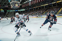 KELOWNA, CANADA - MARCH 5: Cole Linaker #26 of Kelowna Rockets skates with the puck against the Kelowna Rockets on March 5, 2016 at Prospera Place in Kelowna, British Columbia, Canada.  (Photo by Marissa Baecker/Shoot the Breeze)  *** Local Caption *** Cole Linaker;