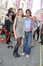 LILLY GARRETT and JAG BOLINA at a street party to celebrate HM The Queen Elizabeth 11 Diamond Jubilee held in Motcomb Street, London on 30th May 2012.