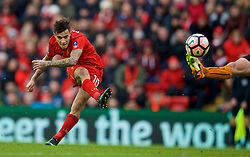LIVERPOOL, ENGLAND - Saturday, January 28, 2017: Liverpool's Philippe Coutinho Correia in action against Wolverhampton Wanderers during the FA Cup 4th Round match at Anfield. (Pic by David Rawcliffe/Propaganda)