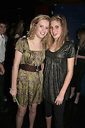Laura Tenwick and Emily Boon, Feathers Ball in aid of the Feathers Clubs. Hammersmith Palais. London. 18 December 2006. ONE TIME USE ONLY - DO NOT ARCHIVE  © Copyright Photograph by Dafydd Jones 248 CLAPHAM PARK RD. LONDON SW90PZ.  Tel 020 7733 0108 www.dafjones.com