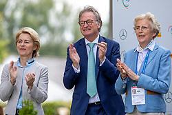 KEMPERMANN Frank, LEYEN Ursula von der, WINTER-SCHULZE Madeleine<br /> Aachen - CHIO 2019<br /> Impressionen am Rande<br /> Deutsche Bank Preis<br /> Großer Dressurpreis von Aachen<br /> Grand Prix Kür CDIO5* <br /> 21. Juli 2019<br /> © www.sportfotos-lafrentz.de/Stefan Lafrentz