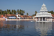 Lake and Temple.South India.