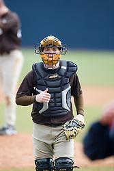 Lehigh catcher Billy Swenson.  The #17 ranked Virginia Cavaliers baseball team defeated the Lehigh Mountain Hawks 12-1 at the University of Virginia's Davenport Field in Charlottesville, VA on February 24, 2008.