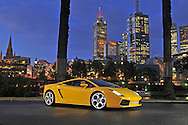 2005 Lamborghini Gallardo (Giallo Midas) .Southbank, Melbourne.18th October 2009.(C) Joel Strickland Photographics.Use information: This image is intended for Editorial use only (e.g. news or commentary, print or electronic). Any commercial or promotional use requires additional clearance.
