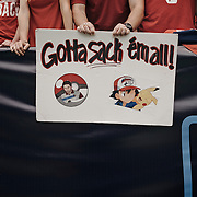 A University of Houston fan holds up a hand-made sign during the game.<br /> <br /> Todd Spoth for The New York Times.
