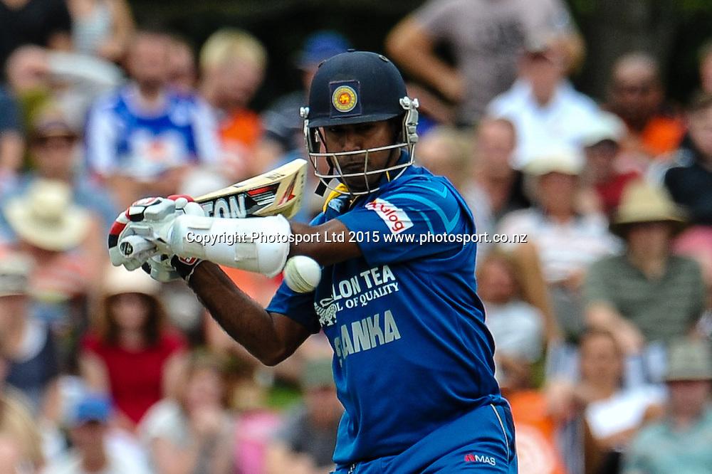 Nuwan Kulasekara of Sri Lanka in action in the first ODI, Black Caps v Sri Lanka, at Hagley Oval, Christchurch, 11 January 2015. Photo:John Davidson/www.photosport.co.nz