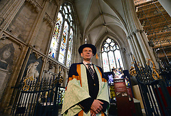 © Licensed to London News Pictures. 18/11/2015. York, UK.  BBC presenter Andrew Marr before receiving an honorary degree in recognition of his career in journalism and broadcasting from the University of York St John during a ceremony at York Minster. Photo credit : Anna Gowthorpe/LNP