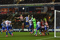 Football - 2019 / 2020 Emirates FA Cup - Fifth Round: Reading vs. Sheffield United<br /> <br /> Sheffield United's Jack O'Connell battles with Reading's Michael Morrison, at the Madejski Stadium.<br /> <br /> COLORSPORT/ASHLEY WESTERN