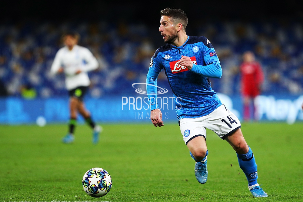 Dries Mertens of Napoli in action during the UEFA Champions League, Group E football match between SSC Napoli and KRC Genk on December 10, 2019 at Stadio San Paolo in Naples, Italy - Photo Federico Proietti / ProSportsImages / DPPI