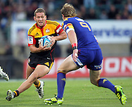 Tawera Kerr-Barlow in action for the Chiefs..Investec Super Rugby - Highlanders v Chiefs, 25 February 2011, Carisbrook Stadium, Dunedin, New Zealand..Photo: Rob Jefferies / www.photosport.co.nz/SPORTZPICS