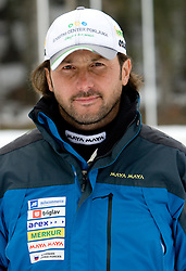 Coach Tomas Kos at training session of Slovenian biathlon team before new season 2009/2010,  on November 16, 2009, in Pokljuka, Slovenia.   (Photo by Vid Ponikvar / Sportida)