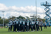 Philadelphia Eagles take to the field during the press, training and media day for Philadephia Eagles at London Irish Training Ground, Hazelwood Centre, United Kingdom on 26 October 2018. Picture by Jason Brown.
