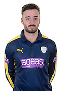 Hampshire right handed batsman and club captain James Vince in the 2016 Royal London One Day Cup Shirt. Hampshire CCC Headshots 2016 at the Ageas Bowl, Southampton, United Kingdom on 7 April 2016. Photo by David Vokes.