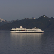Celebrity cruise ship Mercury cruising the Inside Passage near Alaska. <br /> Photography by Jose More