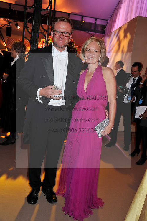 JASON McCUE and MARIELLA FROSTRUP at the Raisa Gorbachev Foundation Gala held at the Stud House, Hampton Court, Surrey on 22nd September 22 2011