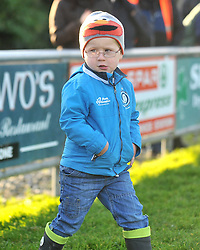 Sideline view 3 year old Sean Walsh from Westport watches on during the junior league match between Connemara and Westport in Clifden.<br /> Pic Conor McKeown