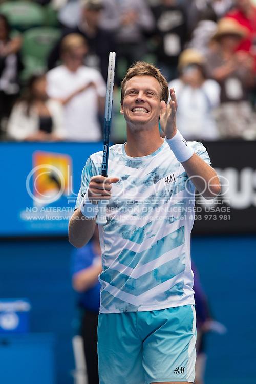 TOMAS BERDYCH (CZE), January 27, 2015 - TENNIS : Australian Open Championship. Melbourne Park, Melbourne, Victoria, Australia. Credit: Lucas Wroe