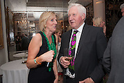 JULIET NICOLSON; DAVID DIMBLEBY, Juliet Nicolson - book launch party for  her latest novel Abdication, about British society after the death of George V.  The Gallery at The Westbury, 37 Conduit Street, Mayfair, London, 12 June 2012