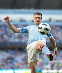 MANCHESTER, ENGLAND - Sunday, May 1, 2011: Manchester City's Adam Johnson in action against West Ham United during the Premiership match at the City of Manchester Stadium. (Photo by David Tickle/Propaganda)