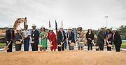 Groundbreaking ceremony at Barbara Jordan Career Center, May 9, 2017.