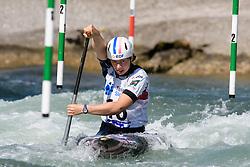 Ella BREGAZZI of France during the Canoe Single (WC1) Womens Semi Final race of 2019 ICF Canoe Slalom World Cup 4, on June 30, 2019 in Tacen, Ljubljana, Slovenia. Photo by Sasa Pahic Szabo / Sportida