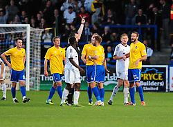 Bristol Rovers' Adam Cunnington gets a red card - Photo mandatory by-line: Neil Brookman/JMP - Mobile: 07966 386802 - 01/11/2014 - SPORT - Football - Telford - New Bucks Head Stadium - AFC Telford v Bristol Rovers - Vanarama Football Conference