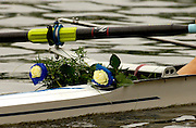 Poznan, POLAND.  2006, FISA, Rowing World Cup the GER W2-, Bow Nicole ZIMMERMANN and Elke HIPLER presentation flowers. Row away from the presentation dock, with their flowers on the boat. 'Malta Regatta course;  Poznan POLAND, Sat. 17.06.2006. © Peter Spurrier   ....[Mandatory Credit Peter Spurrier/ Intersport Images] Rowing Course:Malta Rowing Course, Poznan, POLAND