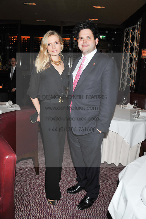 SOFIA WELLESLEY and HARRY COLE political blogger Guido Fawkes at a dinner hosted by Marcus Wareing and Johnnie Walker Blue Label in The Private Dining Room, Marcus Wareing at The Berkeley, Wilton Place, London on 7th November 2012.