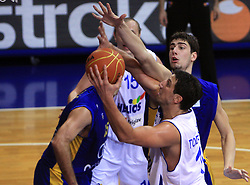 Ivan Todorovoc (17) and Ante Tomic (4) at NLB League ABA basketball match between KK Helios Domzale and KK Zagreb Croatia Osiguranje, on October 31, 2008, in Domzale, Slovenia.  (Photo by Vid Ponikvar / Sportida)