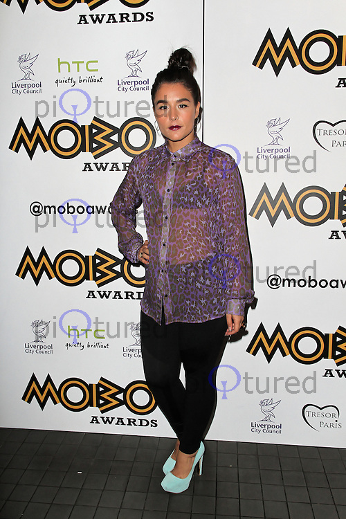 LONDON - SEPTEMBER 17: Jessie Ware attended the Nominations Launch of the MOBO Awards at Floridita London, UK. September 17, 2012. (Photo by Richard Goldschmidt)
