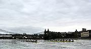 2005 Boat Race, Pre race fixture, Putney, London, ENGLAND. Cambridge University BC v GER M8+. Putney to Chiswick.. Right - CUBC - Bow Luke walton, 2, Tom Edwards, 3. Henry Adams, 4. Steffen Buschbacher, 5. Sebastian Schulte, 6. Matthias Kleinz, 7. Tom James, Stroke Bernd Heidicker, cox Peter Rudge...GER M8+ - Bow, Jocchen Urban, Sebastian Thormann, Stefan Koltxk, Ulf Siemes, Thorsten Englemann, Jan-Martin Broer, Jan Tebrugge, Andreas Penkner..Photo  Peter Spurrier. .email images@intersport-images...[Mandatory Credit Peter Spurrier/ Intersport Images]