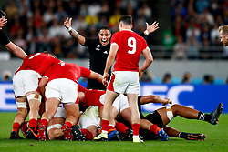 Aaron Smith of New Zealand (All Blacks) during the Bronze Final match between New Zealand and Wales Mandatory by-line: Steve Haag Sports/JMPUK - 01/11/2019 - RUGBY - Tokyo Stadium - Tokyo, Japan - New Zealand v Wales - Bronze Final - Rugby World Cup Japan 2019