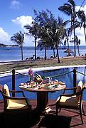 Luxury Breakfast, Tropical resort