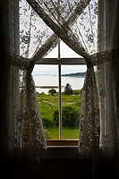 Window view of Blue Hill Bay, Brooklin Maine.