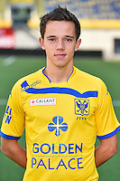 STVV's Gaetan Hendrickx poses for the photographer during the 2015-2016 season photo shoot of Belgian first league soccer team STVV, Friday 17 July 2015 in Sint-Truiden.