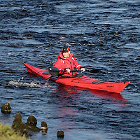 Search for 15 year old Kathleen Harkin…..10.10.16<br />Police Scotland, Scottish Fire and Rescue and Tayside Mountain Rescue Team searching the River Tay in Perth for missing Murthly teenager Kathleen Harkin….Search teams in kayaks in the River Tay<br />Picture by Graeme Hart.<br />Copyright Perthshire Picture Agency<br />Tel: 01738 623350  Mobile: 07990 594431