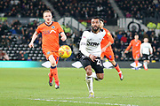 Derby County defender Ashley Cole during the EFL Sky Bet Championship match between Derby County and Millwall at the Pride Park, Derby, England on 20 February 2019.