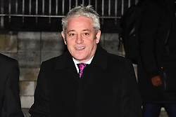 © Licensed to London News Pictures. 12/12/2018. London, UK. Speaker JOHN BERCOW is seen leaving the Houses of Parliament in Westminster as Prime Minister Theresa May faces a vote of no confidence from her own party. Photo credit: Ben Cawthra/LNP