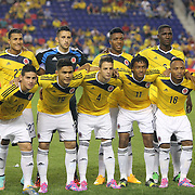 The Colombian team during the Colombia Vs Canada friendly international football match at Red Bull Arena, Harrison, New Jersey. USA. 14th October 2014. Photo Tim Clayton