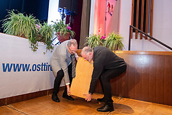 29.01.2019, Stadtsaal, Lienz, AUT, TVBO Wahl 2019, Wahlwiederholung, im Bild Otto Trauner (TVBO), Gerhard Föger (Land Tirol) // during the redial of the TVBO election at the Stadtsaal in Lienz, Austria on 2019/01/29. EXPA Pictures © 2019, PhotoCredit: EXPA/ Johann Groder
