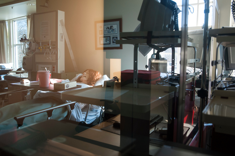 A nursing simulation lab in Grover Hall at Ohio University on Friday, February 27