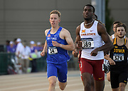 May 24, 2019; Sacramento, CA, USA; Michael Rhoads (34) of Air Force runs in the 800m during the NCAA West Preliminary at Hornet Stadium.
