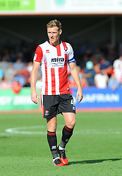 Kyle Storer of Cheltenham Town - Mandatory by-line: Nizaam Jones/JMP - 02/09/2017 - FOOTBALL - LCI Rail Stadium - Cheltenham, England - Cheltenham Town v Stevenage- Sky Bet League Two